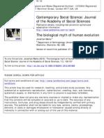 the biological myth of human evolution