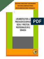 Lineamientos de Servicio Social y Practicas Profesionales en El SENASICA 2011[1]