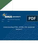 M0114002012012407302_Understanding HTML, XHTML, CSS, JavaScript2