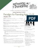 Parenting 3 Prov 1_8-9 Ages 13-19 Handout 093012