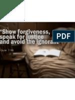 Show Forgiveness