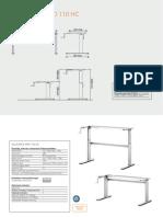 Schreibtisch höhenverstellbar  110 HC