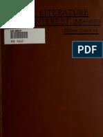 Böhm-Bawek, Recent Literature on Interest (1884-1899) a Supplement to Capital and Interest