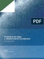 Programa de Riego y Transformacion Productiva
