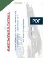 Gestión de la Producción de un Camión Furgón