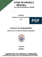 37031815 MBA Latest Syllabus 1