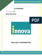 Propuesta Programa de Gobierno, INNOVA AEEG 2012- 2013