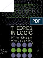 Windelband, Theories in Logic