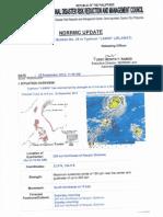 NDRRMC SWB No. 29 Re Typhoon Lawin