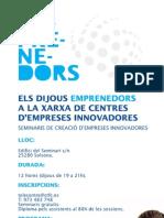 Seminaris de creació d'empreses innovadores