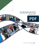 Hannans Annual Report 2012