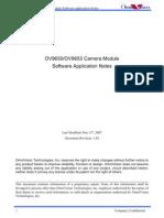 OV9650 Software Application Notes1.03