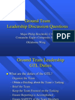 Ground Team Leader Exercise