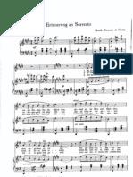Ernesto de Curtis - Erinneruung an Sorrento - Sheet Music