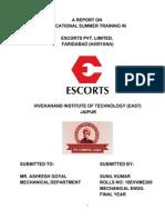 Report on Escort 05 09 2012