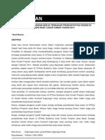 PENGARUH LINGKUNGAN KERJA TERHADAP PRODUKTIVITAS DOSEN DI STIKES BUDI LUHUR CIMAHI TAHUN 2011