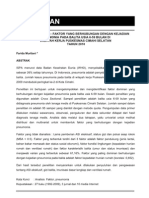 ANALISIS FAKTOR-FAKTOR YANG BERHUBUNGAN  DENGAN KEJADIAN PNEUMONIA PADA BALITA USIA 6-59 BULAN DI WILAYAH KERJA PUSKESMAS CIMAHI SELATAN TAHUN 2010