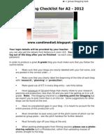 Blogging Check List - 2012-2013