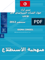 SIGMA Conseil _ Sondage d'Opinions Septembre 2012