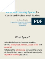 Social and Learning Spaces for Continued Professional Studies