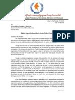 Letter to Presient, U Thein Sein _ Eng