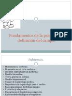 D la FUENTE Fundamentos de la psicología y definición del campo