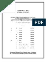 Schedules Nov12