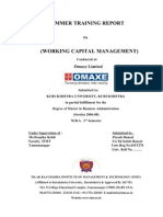WorkingCapitalManagement(Omaxe)