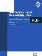 Deinstitutionalisation and Community Living