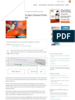 How to Make a Slick Ajax Contact Form With jQuery and PHP