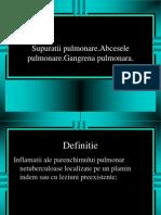 supuratiile pulmonare