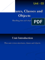 Unit 03 Structures Classes and Objects