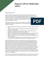 QuEChERS Dispersive SPE for Multiresidue Pesticide Analysis