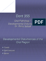 Dent 355 Rima Developmental Disturbances of the Oral Region All