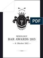 Mixology Bar Awards 2013 // Die Nominierten der Short List