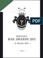 Mixology Bar Awards 2013 // Die Nominierten der Short List