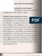 Alterações plaquetárias