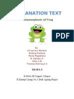 Metamorphosis of frog