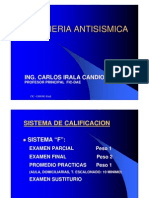 Introduccion Curso Ingenieria Antisismica - 2009