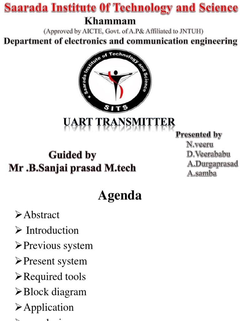 Uart ppt | Telecommunications | Office Equipment