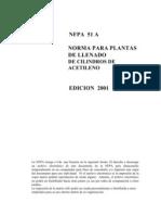 NFPA 051A-00 Plantas de Llenado de Acetileno