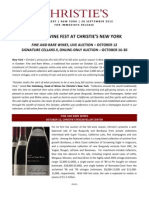 Two October Wine Sales - Live and Online-Only ~ New York