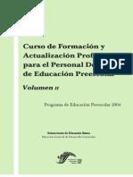 Curso de Formación y Actualizacion Profesional Para El Personal Docenrte de Educ Preesclar Vol 2