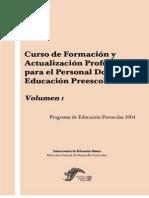 Curso de Formación y Actualizacion Profesional Para El Personal Docenrte de Educ Preesclar Vol 1