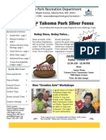 Silver Foxes Newsletter - October 2012 from the Takoma Park Recreation Department
