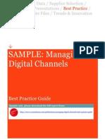 Sample Managing Digital Channels Best Practice Guide SAMPLE