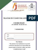 V Semester Course Diary 2011-12