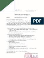 Thong Bao Tuyen Dung - Cty Daizo Tec (Viet.)