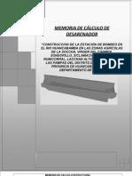 Memoria de Calculo de Desarenador PDF