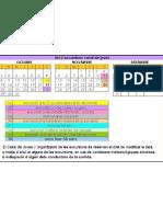 calendari excursions 2012